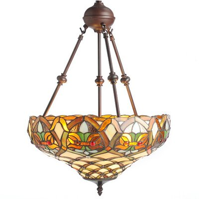 Mathis 60 Glass Bowl Pendant Shade Color: Ivory