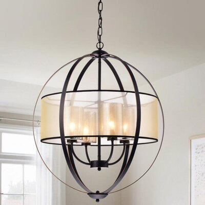 Mariela Metal Strap 4-Light Globe Pendant
