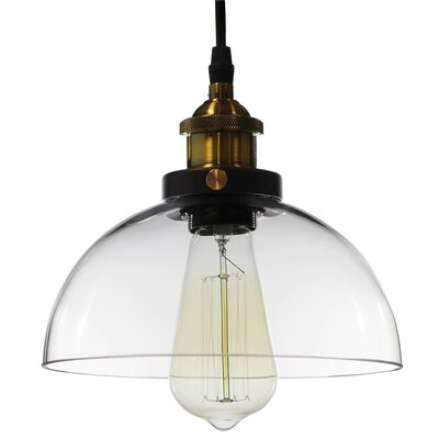 Aicha Dome 1-Light Inverted Pendant