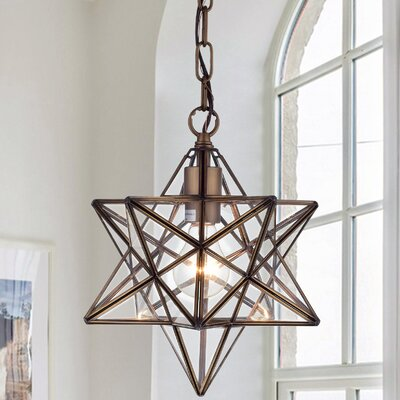 Shuler Star 1-Light Geometric Pendant