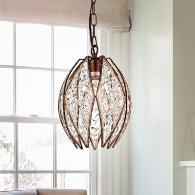 Algernon 1-Light Crystal Pendant
