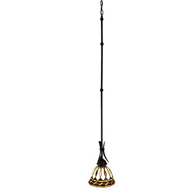 Brittin Art Glass and Metal 1-Light Mini Pendant
