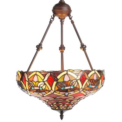 Mathis 60 Glass Bowl Pendant Shade Color: Red