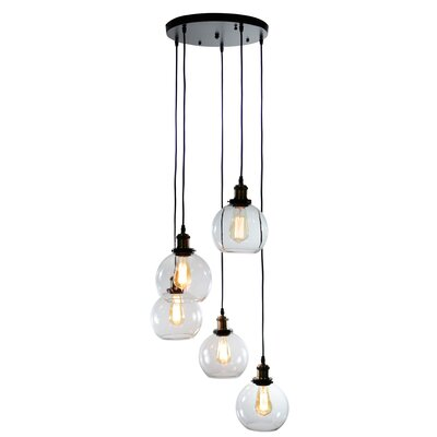 Buragate 5-Light Globe Pendant
