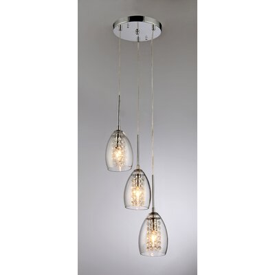 Wine Cup 3-Light Pendant 59774