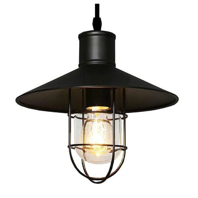 Quintana Adjustable Cord Edison 1-Light Mini Pendant