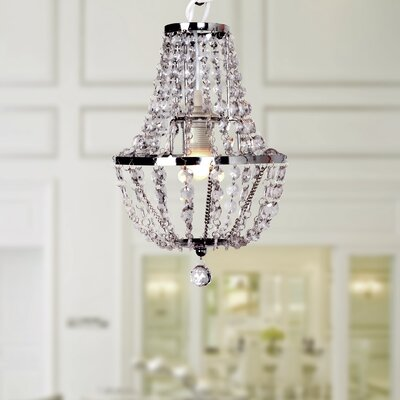 Bridgman 1-Light Crystal Chandelier