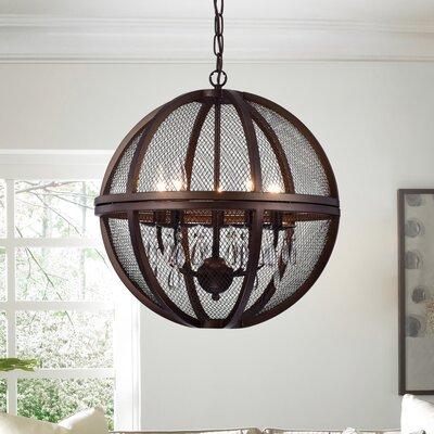 Mandee Crystals Caged 5-Light Globe Pendant