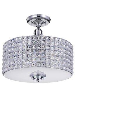 Yinn Crystal 4-Light Semi Flush Mount