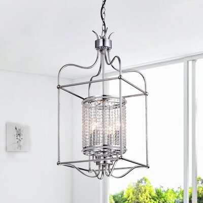 Brockdale 4-Light Foyer Pendant Finish: Chrome