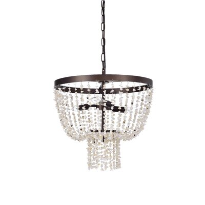 Jaylene 3-Light Bowl Pendant