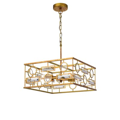 Cheaney 4-Light Geometric Pendant Finish: Gold