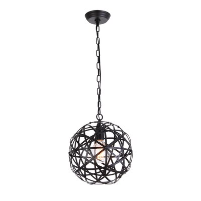 Reticuli 1-Light Globe Pendant