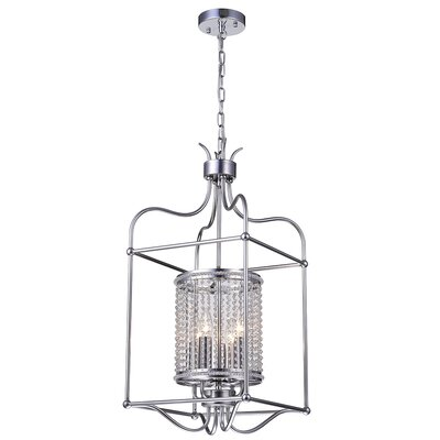 Mikayla Crystal 4-Light Foyer Pendant