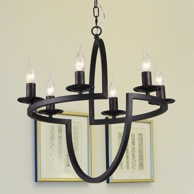 Erekson 6-Light Candle-Style Chandelier