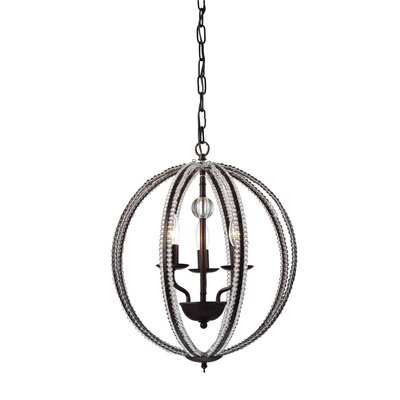 Ambrosine 3-Light Globe Pendant