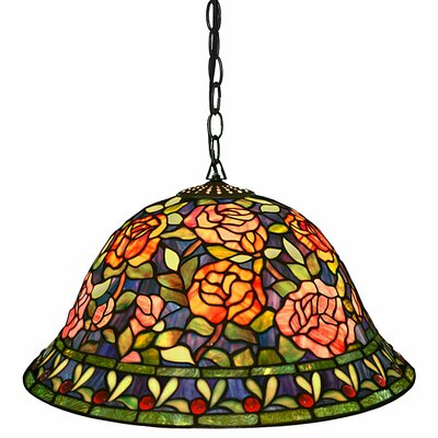 Southern Belle Rose 2-Light Hanging Pendant