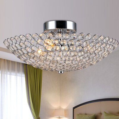 Nichols Crystal 3-Light Semi Flush Mount