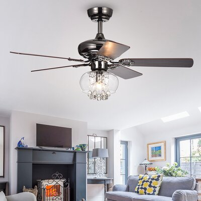 42 Lake Macquarie Crystal 5 Blade Ceiling Fan