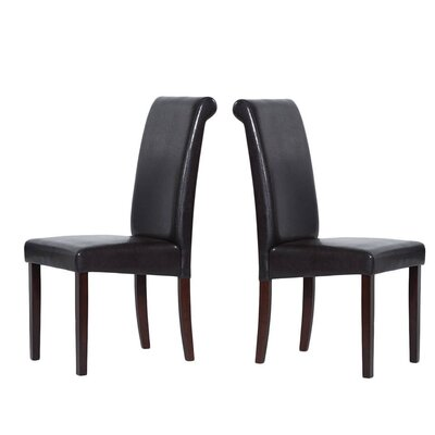 Berchmans Genuine Leather Upholstered Dining Chair