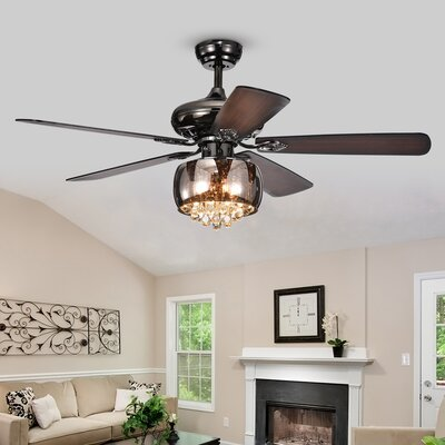 52 Lakey 5 Blade Ceiling Fan with Remote