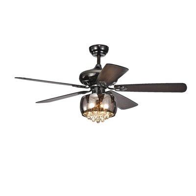52 Lakey Crystal 5 Blade Ceiling Fan