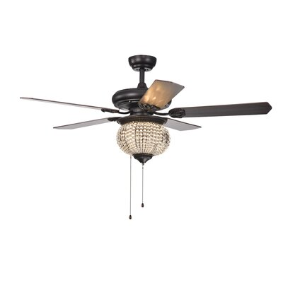 52 Lakes Crystal Bead 5 Blade Ceiling Fan