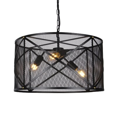 Cullum Mesh 3-Light Drum Pendant