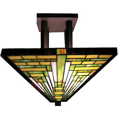 Frank Lloyd Wright 2-Light Semi Flush Mount