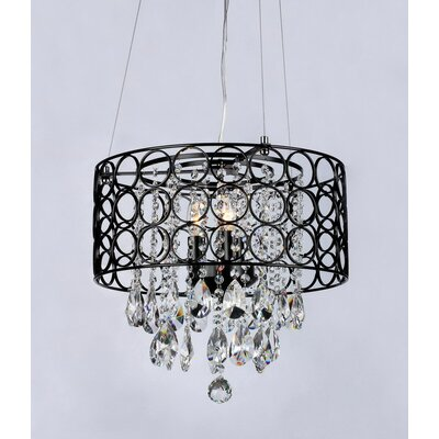 Anna 3-Light Drum Chandelier