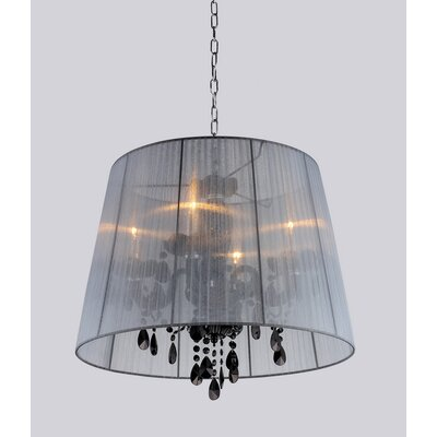 Charmian 4-Light Shaded Chandelier