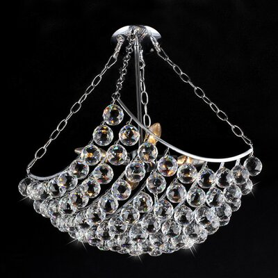 Blathnat 4-Light Crystal Semi Flush Mount
