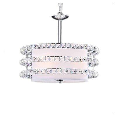Saturn 3-Light Crystal Drum Pendant