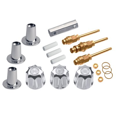 3 Handle Tub/Shower Remodeling Kit for Gerber