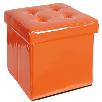 Ottoman Upholstery: Orange