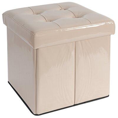 Storage Ottoman Upholstery: Tan