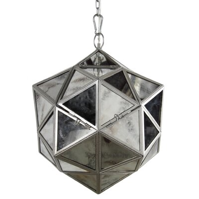 "1-Light Mini Pendant Size: 17.3"" H x 13.8"" W x 13.8"" D 37313"