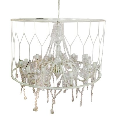 Drum Chandelier Color: White