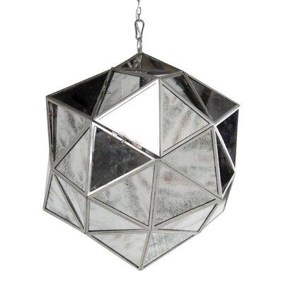 1-Light Mini Pendant Size: 24 H x 21 W x 21 D
