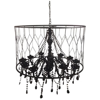 Drum Chandelier Color: Black