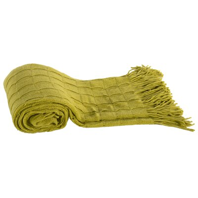 Acrylic Cashmere Throw Blanket Color: Green
