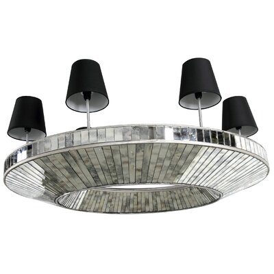 5-Light Shaded Chandelier Size: 14.5 H x 40.8 W x 32.8 D