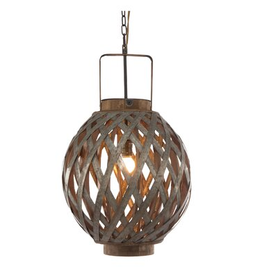 Globe 1-Light Pendant Size: 23 H x 13.5 W x 13.5 D