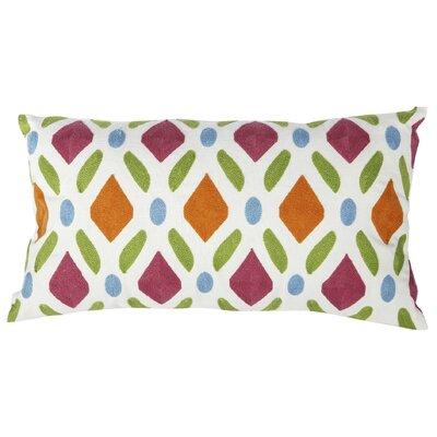 Embroidered Cotton Lumbar Pillow
