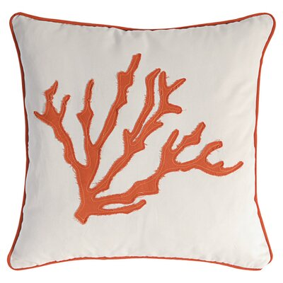 Coral Throw Pillow in Orange