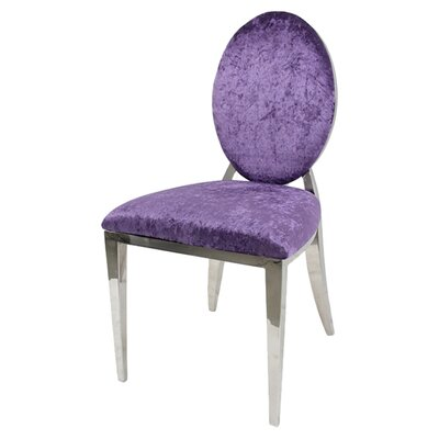 Charlene Side Chair Upholstery: Purple
