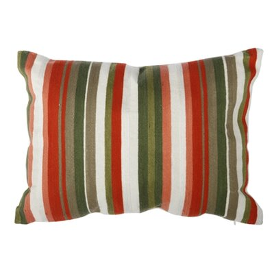Tommie Embroidered Cotton Lumbar Pillow