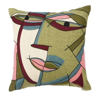 Dwayne Embroidered Cotton Throw Pillow