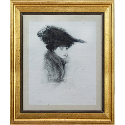 Young Woman Framed Original Painting AVM39134