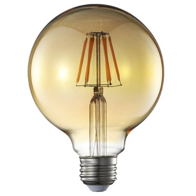 6W E26 G125 Filament LED Amber Light Bulb